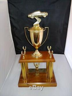 Vintage Trophée Nascar Bobby Allison 1973 World Race 300 Charlotte Utilisée Hof