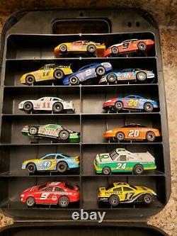 Vintage Tyco Lifelike Nascar Stocker Slot Cars & Afx Case Racing Running. L@@k