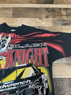 Vintage Vtg 90s Aop Dale Earnhardt T-shirt Nascar Racing Black Knight XL