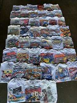 Vintage Wholesale T Shirt 45 Lot Graphic 90s 00s Bundle Nascar Classic Cars Race