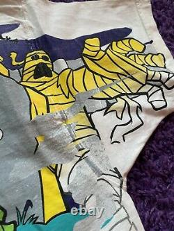 Vtg Années 90 Nascar Cartoon Network Scooby Doo Racing T Shirt All Over Print Nm