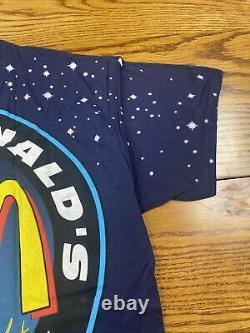 Vtg Bill Elliott Mcdonalds Racing Team T-shirt All Over Print 90s Sz M #94