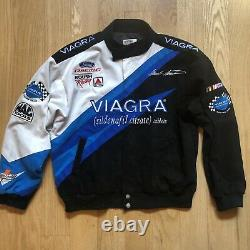 Vtg Mark Martin Viagra Roush Racing Jacket Rh Design Rare Edition Sz L Nascar