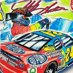 Vtg Rare Nascar Jeff Gordon Dupont Racing All Over Imprimer T-shirt. Hommes Moyenne