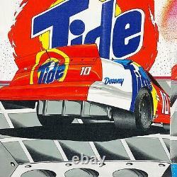 Vtg Rare Nascar Ricky Rudd Tide Racing All Over Imprimer T-shirt. Hommes Moyenne