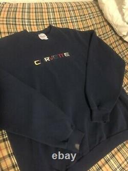 Vtg Vintage Corvette Rainbow Homme Crew Neck Sweatshirt XXL XL Nascar