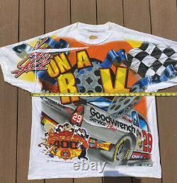 Vtg Y2k Nascar #24 Jeff Gordon Looney Tunes Racing All Over Imprimer T-shirt L XL