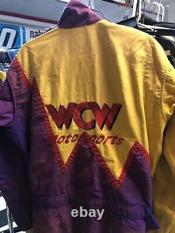 Wcw Wrestling Motorsports Nascar Race Used Pit Crew Firesuit