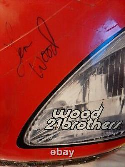 Wood Brothers Racing # 21 Autographié Ricky Rudd Race Nose Utilisé Cup Series Nascar